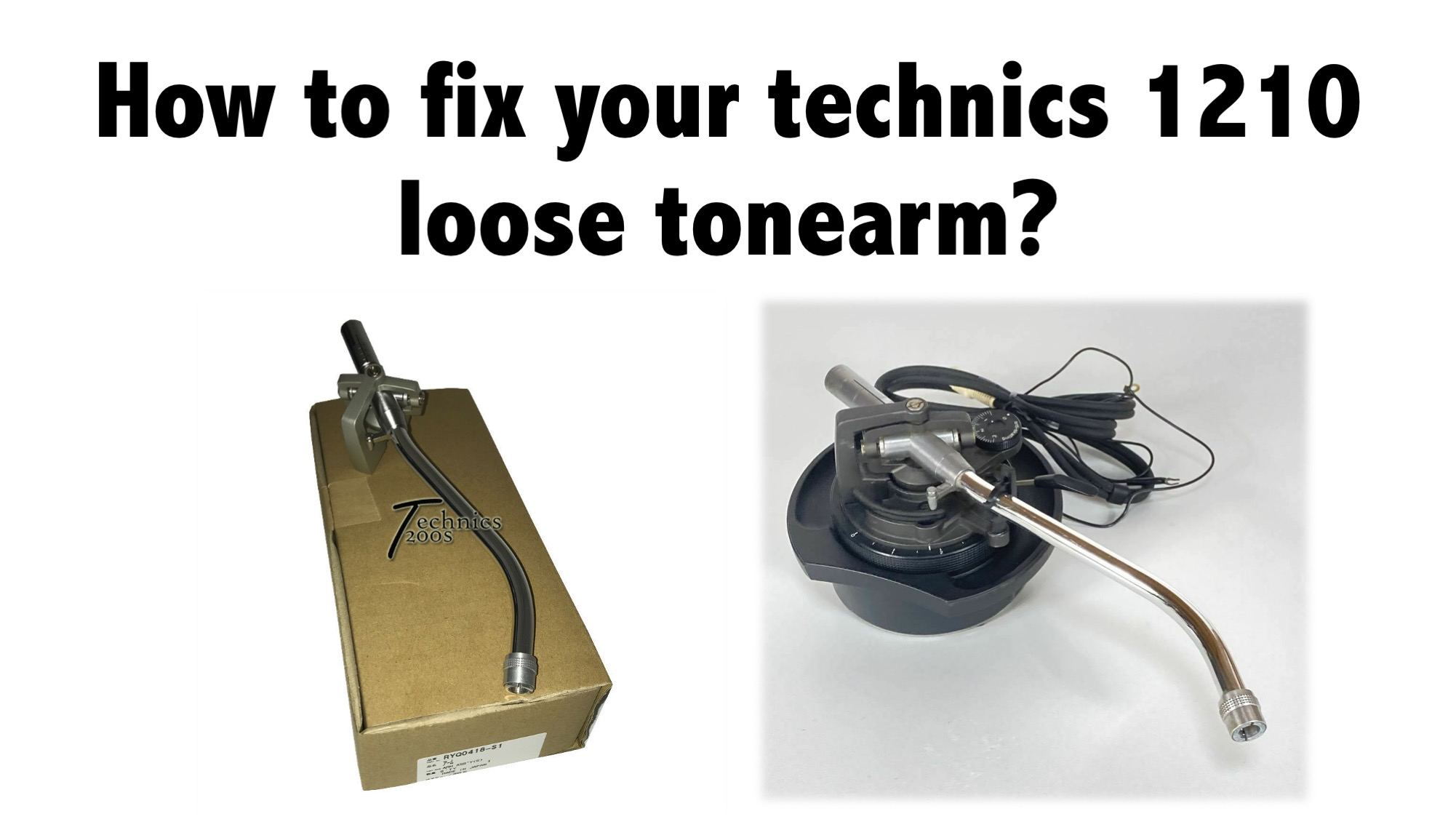 How to fix your technics 1210 loose tonearm?